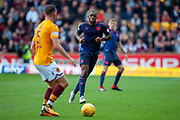 Uche Ikpeazu (#19) of Heart of Midlothian during the Ladbrokes Scottish Premiership match between Motherwell and Heart of Midlothian at Fir Park, Motherwell, Scotland on 15 September 2018.