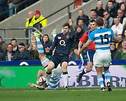 Twickenham, United Kingdom. Elliot DALY'S red card foul on Leonardo Senatore, during the Old Mutual Wealth Series Rest Match: England vs Argentina, at the RFU Stadium, Twickenham, England, <br /> <br /> Saturday  26/11/2016<br /> <br /> [Mandatory Credit; Peter Spurrier/Intersport-images]