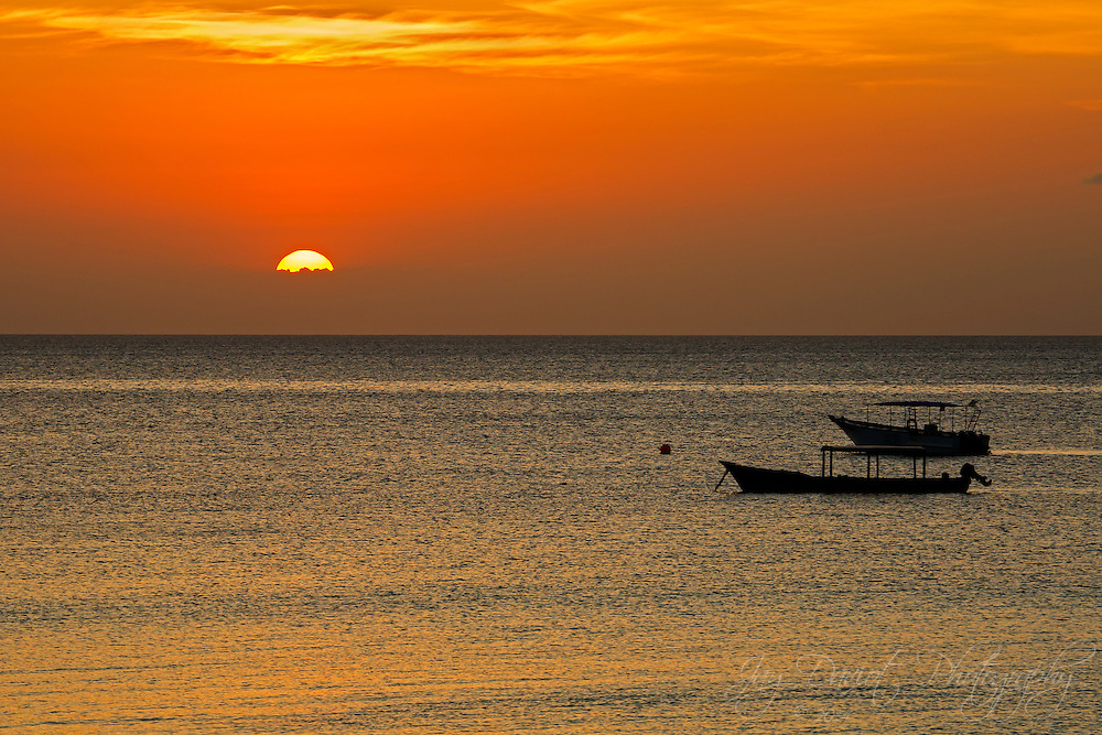 The sunsets in Zanzibar can be spectacular.