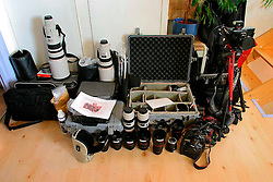 UK ENGLAND LONDON 20OCT07 - Accumulated equipment destined to go on Southern Oceans assignment for Greenpeace International, photographed at my flat in 282 C Shirland Road, West London...jre/Photo by Jiri Rezac..© Jiri Rezac 2007..Contact: +44 (0) 7050 110 417.Mobile:  +44 (0) 7801 337 683.Office:  +44 (0) 20 8968 9635..Email:   jiri@jirirezac.com.Web:    www.jirirezac.com..© All images Jiri Rezac 2007 - All rights reserved.
