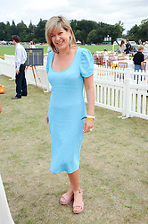 PENNY SMITH at the Veuve Clicquot Gold Cup polo final held at Cowdray Park, Midhurst, West Sussex on 18th July 2010.