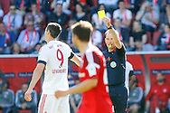 Robert Lewandowski of Bayern Munich is shown a yellow card during the Bundesliga match at Audi Sportpark, Ingolstadt<br /> Picture by EXPA Pictures/Focus Images Ltd 07814482222<br /> 07/05/2016<br /> ***UK &amp; IRELAND ONLY***<br /> EXPA-EIB-160507-0053.jpg