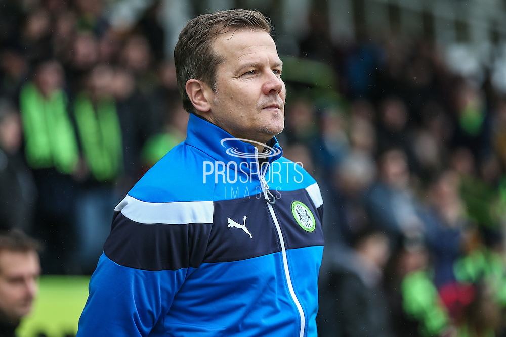 Forest Green Rovers manager, Mark Cooper during the Vanarama National League match between Forest Green Rovers and Woking at the New Lawn, Forest Green, United Kingdom on 25 February 2017. Photo by Shane Healey.