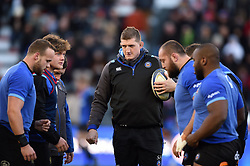 Stuart Hooper of Bath Rugby looks on during the pre-match warm-up - Mandatory byline: Patrick Khachfe/JMP - 07966 386802 - 09/12/2017 - RUGBY UNION - Stade Mayol - Toulon, France - Toulon v Bath Rugby - European Rugby Champions Cup