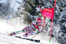 Marco Schwarz (AUT) competes in 1st Run during Men Giant Slalom race of FIS Alpine Ski World Cup 55th Vitranc Cup 2015, on March 4, 2016 in Kranjska Gora, Slovenia. Photo by Ziga Zupan / Sportida