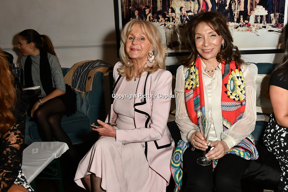 Liz Brewer attend Nina Naustdal catwalk show SS19/20 collection by The London School of Beauty & Make-up at Bagatelle on 26 Feb 2019, London, UK.