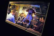Nederland, Lent, 22-2-2003Op het bedrijfsterrein van een familielid mogen jongeren in een oude caravan hun hangplek hebben.Foto: Flip Franssen/Hollandse Hoogte