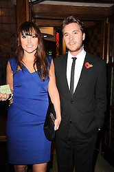 BEN CARING and his wife ELLE at 'Heavenly Ivy' a play to commemorate 20 years of The Ivy Restaurant, held at The Ivy, West Street, London on 8th November 2010.