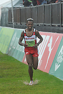 BONGUMUSA MTHEMBU finishing fifth during the 2 Oceans Ultra Marathon held in and around Cape Town and the Cape Peninsular on the 7th April 2012..Photo by Jurie Senekal/SPORTZPICS