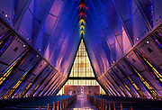 Air Force Academy cadet chapel, Colorado Springs, Colorado, CO, USA