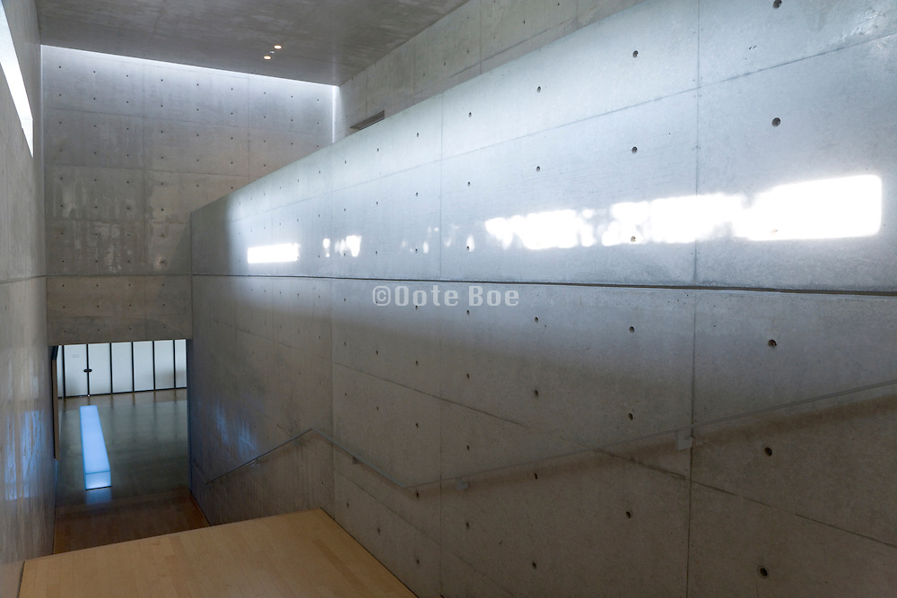 interior of Park hotel by Tadao Ando at Naoshima Island Japan
