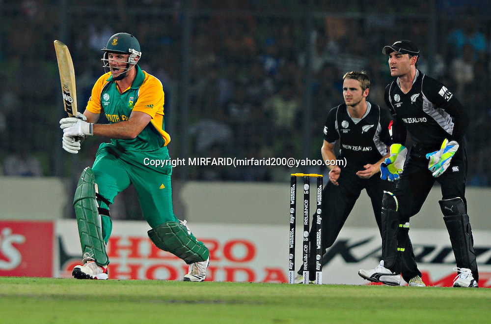 Graeme Smith during the ICC Cricket World Cup quarter final match between South Africa and New Zealand held at the Shere Bangla National Stadium, Mirpur, Bangladesh on the 25 March 2011..Photo by SPORTZPICS