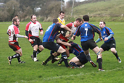 Westport hold out for famous win..Stubborn and stoic defence by Westport Bulls against Cooke during the All Ireland Junior Cup quarter final...Pic Conor McKeown