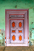 Front door to a home in Nagore.