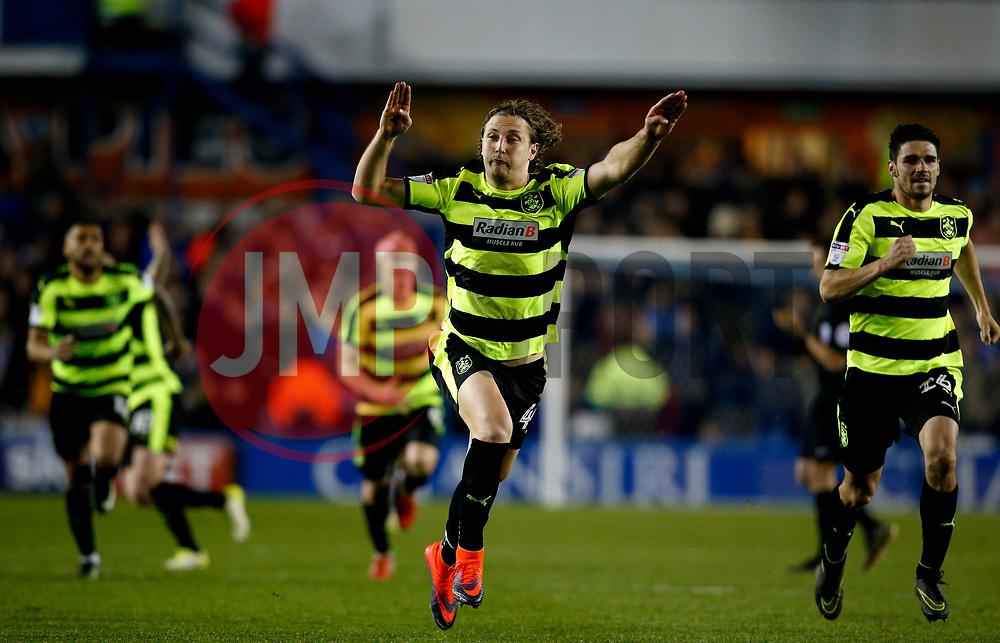 Michael Hefele of Huddersfield Town celebrates victory - Mandatory by-line: Matt McNulty/JMP - 17/05/2017 - FOOTBALL - Hillsborough - Sheffield, England - Sheffield Wednesday v Huddersfield Town - Sky Bet Championship Play-off Semi-Final 2nd Leg