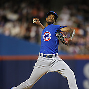 NEW YORK, NEW YORK - July 02: Pitcher Carl Edwards Jr. #6 of the Chicago Cubs pitching during the Chicago Cubs Vs New York Mets regular season MLB game at Citi Field on July 02, 2016 in New York City. (Photo by Tim Clayton/Corbis via Getty Images)