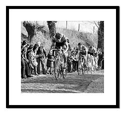 Fons de Wolf, Het Volk 1982<br /> <br /> Taken on the Eikenburg climb on the way to him winning this early season popular Belgian<br /> one day race.