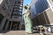 "Jim Dine's ""Looking Toward the Avenue"" sculptures , 1301 Avenue of the Americas, Manhattan, New York City, New York, USA"