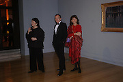 Liz Forgan, Simon Jenkins and Gail Hunnicutt. Turner Whistler Monet, exhibtion opening dinner, Tate Britain. 7 February 2005, ONE TIME USE ONLY - DO NOT ARCHIVE  © Copyright Photograph by Dafydd Jones 66 Stockwell Park Rd. London SW9 0DA Tel 020 7733 0108 www.dafjones.com