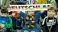 LEIPZIG (Duitsland) - Supporters WK zaalhockey. FOTO KOEN SUYK