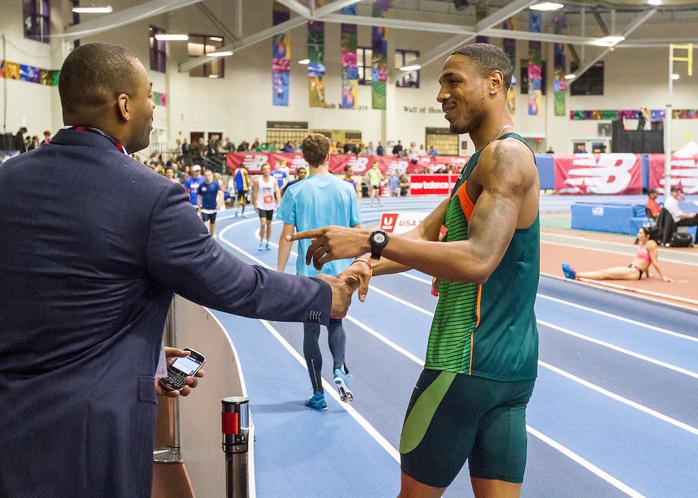 New Balance Indoor Grand Prix track & field, Mens 4x800 meter relay, Solomon