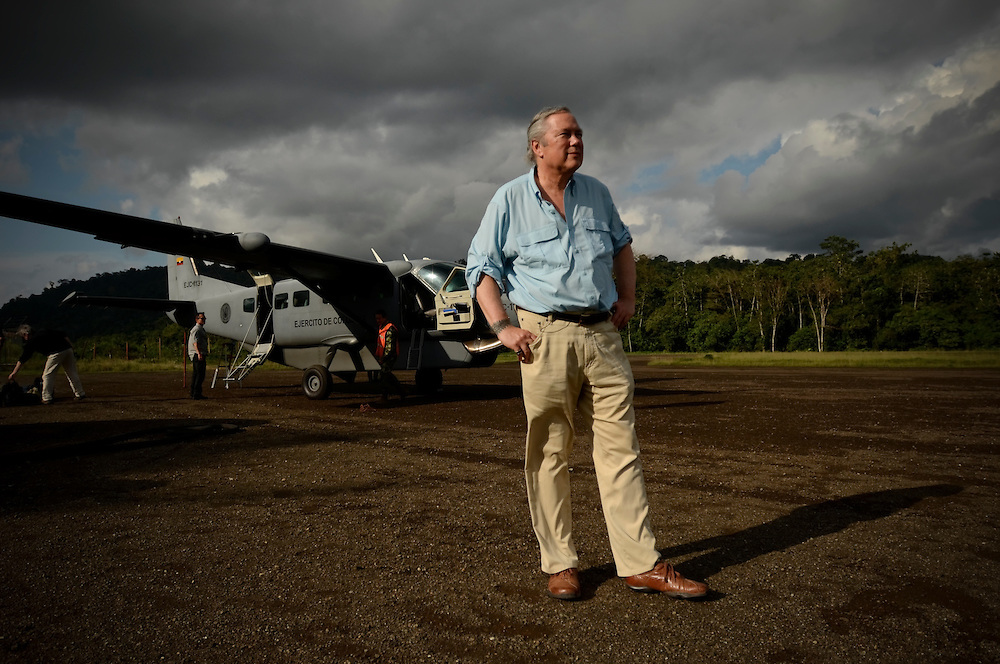 Gordon Radley, 64, poses for a portrait on the runway of the small airport in Bahía Solano, once used by the infamous drug trafficker, Pablo Escobar, located on the northern pacific coast in Chocó, the poorest department of Colombia. Radley, former president of Lucasfilm (Star Wars, Indiana Jones) traveled to Colombia this month as part of his decades-long search for the remains of his brother, Lawrence Radley, a Peace Corps volunteer who died in a plane crash in the Colombian jungle in 1962. Radley promised that he would someday retrace the last steps of his brother, and complete the journey from Bahía Solano to Quibdó, Colombia that his brother died trying to make.
