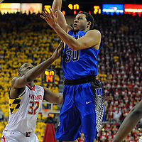 16 February 2013:   Duke Blue Devils guard Seth Curry (30) in action against the Maryland Terrapins at the Comcast Center in College Park, MD. where the Maryland Terrapins defeated the Duke Blue Devils, 83-81.