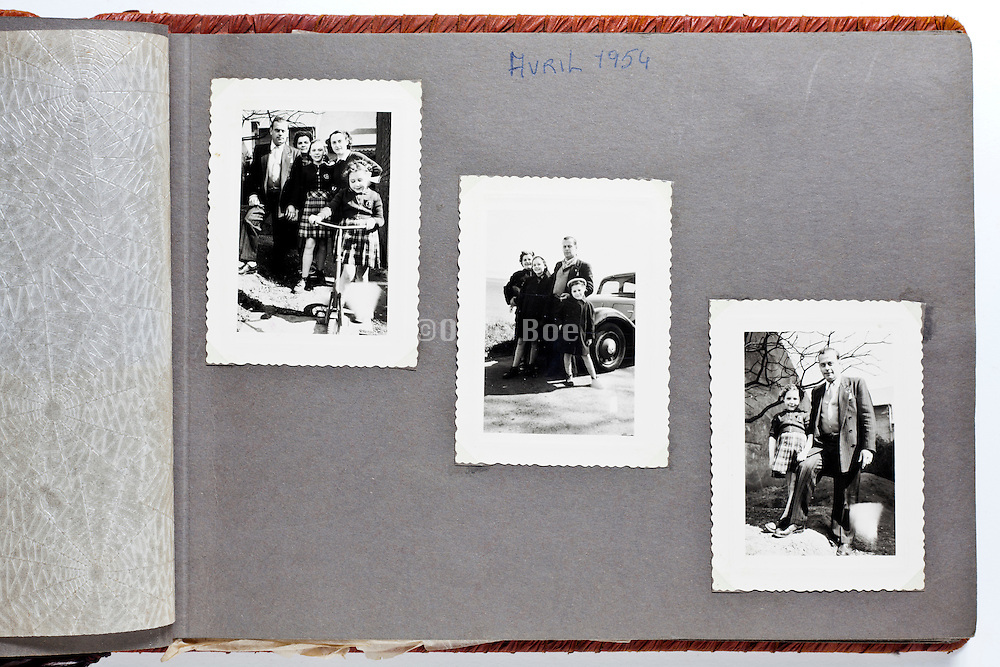 page from a family album April 1954 France