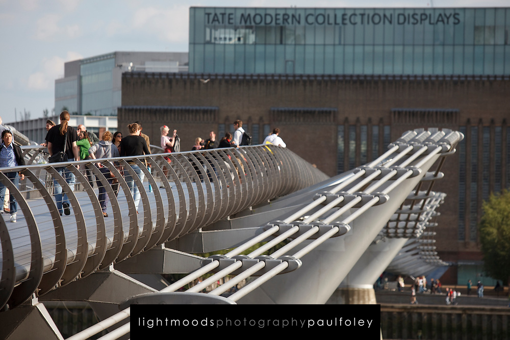 The Tate Modern Musuem  and Millenium Bridge, London, UK