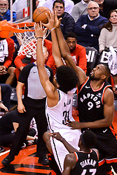 February 11, 2019 - Toronto, Ontario, Canada - Jarrett Allen #31 of the Brooklyn Nets shoots the ball during the Toronto Raptors vs Brooklyn Nets NBA regular season game at Scotiabank Arena on February 11, 2019, in Toronto, Canada (Toronto Raptors win 127-125) (Credit Image: © Anatoliy Cherkasov/NurPhoto via ZUMA Press)