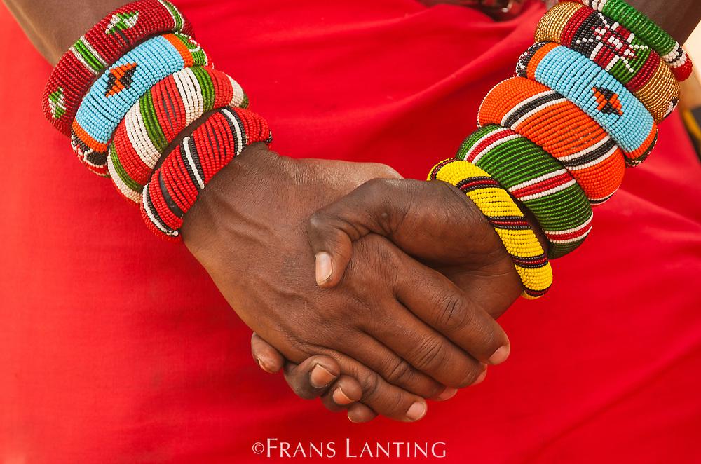 Samburu warrior with bracelets, near Samburu National Reserve, Kenya