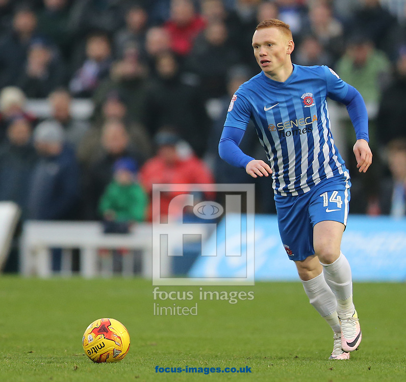 Michael Woods of Hartlepool United during the Sky Bet League 2 match at Victoria Park, Hartlepool<br /> Picture by Simon Moore/Focus Images Ltd 07807 671782<br /> 21/01/2017