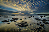 Oceania, New Zealand, Aotearoa, South Island, Otago Coast, Moeraki Boulders sunrise