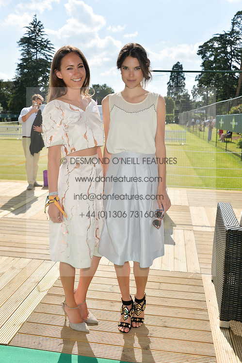 Left to right, LAVINIA BRENNAN and SARAH ANN MACKLIN at the Summer Solstice Party during the Boodles Tennis event hosted by Beulah London and Taylor Morris at Stoke Park, Park Road, Stoke Poges, Buckinghamshire on 21st June 2014.