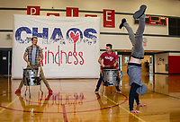 Recycled Percussion takeover at Laconia Middle School.   Karen Bobotas for the Laconia Daily Sun