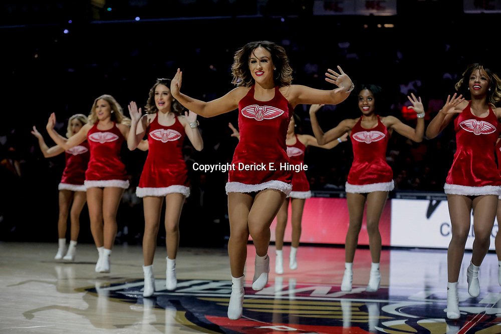Dec 16, 2018; New Orleans, LA, USA; New Orleans Pelicans dance team performs during the second half against the Miami Heat at the Smoothie King Center. Mandatory Credit: Derick E. Hingle-USA TODAY Sports