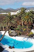 Espagne. Iles Canaries. Lanzarote. Los Jameos Del Agua de Cesar Manrique. // Spain. Canary islands. Lanzarote. Los Jameos Del Agua from artist Cesar Manrique.