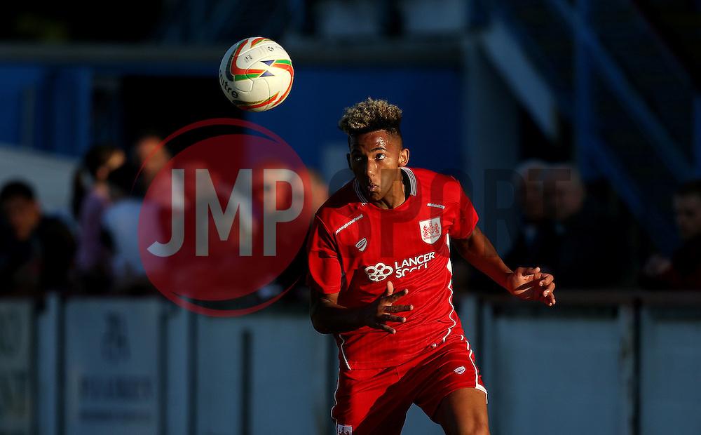 Lloyd Kelly of Bristol City Under 21s heads the ball - Mandatory by-line: Robbie Stephenson/JMP - 13/07/2016 - FOOTBALL - Bob Lucas Stadium - Weymouth, England - Weymouth FC v Bristol City Under 21s - Pre-season friendly