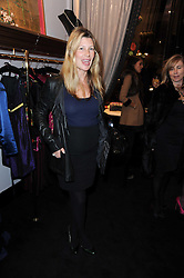 SARA PARKER BOWLES at the opening of Jade Jagger's shop at 43 All Saints Road, London W11 on 25th November 2009.
