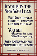 If you buy the new war loan, your country gets funds to carry on and win the war. 1915.