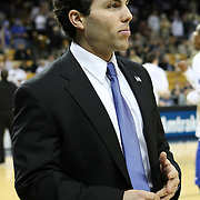 Memphis head coach Josh Pastner before  a Conference USA NCAA basketball game between the Memphis Tigers and the Central Florida Knights at the UCF Arena on February 9, 2011 in Orlando, Florida. Memphis won the game 63-62. (AP Photo: Alex Menendez)