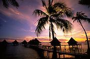 Sunset, Kia Ora Village, Rangiroa, French Polynesia<br />