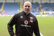 Walsall manager Jon Whitney during the EFL Sky Bet League 1 match between Oxford United and Walsall at the Kassam Stadium, Oxford, England on 31 December 2016. Photo by Dennis Goodwin.