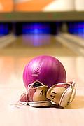 Bowling shoes, ball and lane - KUKUBARA - Bowling Center & Hotel