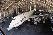 Qantas Jet in Qantas hangar, Sydney Airport, Sydney, Australia