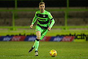 Forest Green Rovers Nathan McGinley(19) runs forward during the EFL Trophy group stage match between Forest Green Rovers and U21 Arsenal at the New Lawn, Forest Green, United Kingdom on 7 November 2018.