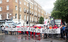 AUG 14 2014 London demonstration against soccer costs