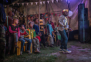 Young boys sing along to Reggae music at the headquarters of The Twelve Tribes of Israel in Shashemene.  Ethiopia.