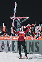 18.01.2020, Hochfirstschanze, Titisee Neustadt, GER, FIS Weltcup Ski Sprung, Siegerehrung, im Bild Sieger Dawid Kubacki (POL) // Winner Stefan Kraft of Austria during the winner ceremony for the FIS Ski Jumping World Cup at the Hochfirstschanze in Titisee Neustadt, Germany on 2020/01/18. EXPA Pictures © 2020, PhotoCredit: EXPA/ JFK