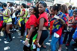 Party goers in the  streets at the 2013 Notting Hill Carnival in West London, United Kingdom. Monday, 26th August 2013. Picture by Piero Cruciatti / i-Images